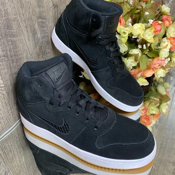 compañero Aspirar Oceanía  Nike Shoes | Nwt Wmns Nike Ebernon Mid Premium Shoes Blackbl | Poshmark